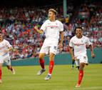 Nolito y Pozo dan el triunfo al Sevilla ante el Liverpool