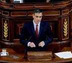Sánchez emplaza a Podemos al acuerdo con un discurso que obvia Cataluña