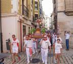 El apóstol Santiago, a ritmo de 'Marcial' por el Casco Viejo de Tudela