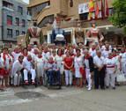 Los mayores marcan el ritmo festivo en San Adrián