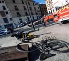 Aparece destrozada la escultura de bronce homenaje a Bahamontes, en Toledo