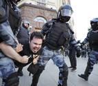 Más de 1.300 detenidos por participar en una manifestación en Moscú