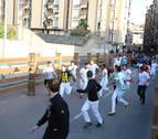 Dos heridos leves, entre ellos un tudelano, en el último encierro de fiestas de Tudela