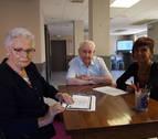 Al 'cole' a los 91 años en Aoiz