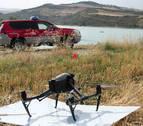 Policía Foral inicia la vigilancia del embalse de Alloz con drones
