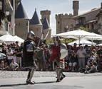 Olite se engalana para recrear un pasado medieval lleno de esplendor