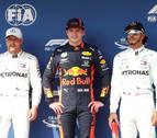 Verstappen firma su primera 'pole' en F1 y Sainz saldrá octavo en Hungría