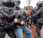 Casi 700 detenidos en otro pulso entre la oposición y las autoridades rusas