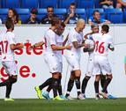 El Sevilla cierra la estancia en Alemania goleando a los reservas del Hoffenheim