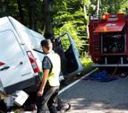 Grave un joven de 20 años accidentado en la N-135 en Burguete