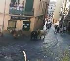 Un joven, atendido en Estella tras saltar una vaquilla al burladero