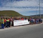 ELA protesta por un accidente laboral ocurrido en la empresa Smurfit Kappa en Sangüesa