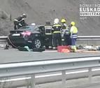 Un conductor que iba en sentido contrario fallece en un choque en Guipúzcoa