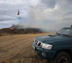 Estabilizado un incendio en Arróniz en las inmediaciones de una empresa y una granja