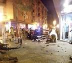 Nueve heridos, entre ellos una niña, al estrellarse un coche contra una terraza en Gerona