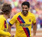 Suárez continúa con olfato goleador y Griezmann se estrena