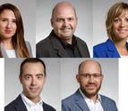 Nombrados cinco nuevos jefes de gabinete de los consejeros del Gobierno foral