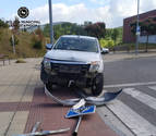 Un conductor ebrio protagoniza un accidente en Ripagaina