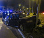 Aparatoso accidente con dos heridos leves en Tudela