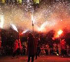 La plaza de Navarra de Tafalla, a ritmo de pólvora