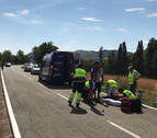 Herido grave un ciclista tras sufrir una caída entre Azuelo y Espronceda