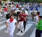 Rápido cuarto encierro sin heridos de consideración en las fiestas de Tafalla