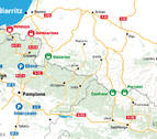 La DGT recomienda evitar la frontera de Irún por la cumbre del G-7 en Biarritz