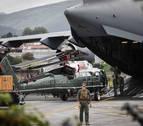 El 'Marine One' descansa ya en el aeropuerto de Hondarribia