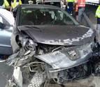 Aparatoso accidente de tráfico en Zizur sin heridos