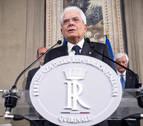 El presidente de Italia da hasta el martes para negociar un nuevo Gobierno