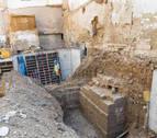 Hallan nuevos tramos de la muralla medieval y la barbacana de Tudela