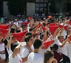 Miranda de Arga inicia sus fiestas patronales refrescándose del calor