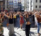 'Flashmob' flamenco en el corazón de Pamplona