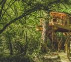 Cabañas en árboles en Navarra: vivir en las alturas