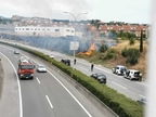 Un incendio en Gorraiz obliga a desalojar el polideportivo de Egüés