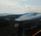 Extinguido el incendio forestal declarado en Lezaun