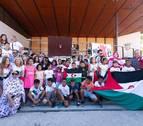Un canto de bienvenida desde el Sáhara en el chupinazo de Berriozar