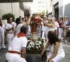 Los vecinos de Berriozar cuidan a San Esteban