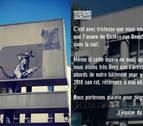 Roban un grafiti de Banksy a las puertas del Pompidou de París
