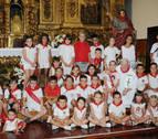 Caparroso celebró este miércoles el Día del Niño con una ofrenda