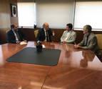 Primera reunión institucional entre el presidente del TSJN y el nuevo consejero de Justicia