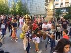 Los gigantes vuelven a bailar en Pamplona por el Privilegio de la Unión