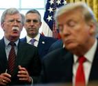 Trump destituye a John Bolton tras meses de desacuerdos