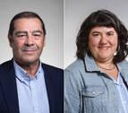José Ramón Mora y Eva Istúriz, directores gerentes del SNS-O y del Instituto Navarro para la Igualdad