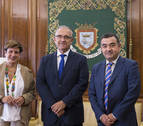 Maya se reúne con el nuevo presidente de la Asociación de la Industria de Navarra