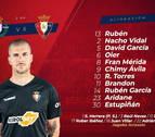 Osasuna repite alineación para enfrentarse al Valladolid
