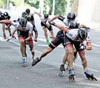 Beddiaf y Ancín repiten triunfo en la maratón de patinaje Pamplona-Puente