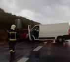 Tres heridos en un accidente de tráfico en la AP15, a la altura de Esquíroz