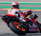 Márquez sentencia, novena 'pole' de la temporada en el GP de Aragón