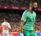 Benzema le da la victoria al Madrid en el Pizjuán y lo pone colíder de la Liga